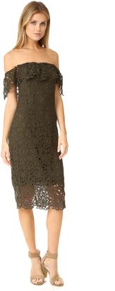STYLESTALKER Thalia Lace Off Shoulder Dress $198 thestylecure.com