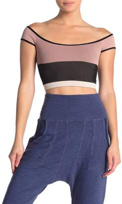 Free People Seamless Block Party Crop Top