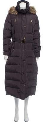 MICHAEL Michael Kors Zip-Up Belted Long Coat