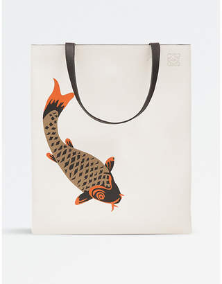 Loewe Pesce leather vertical tote bag
