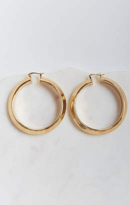 Show Me Your Mumu Charmed Oversized Hoop Earrings ~ Gold