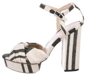 96c6bba3088 Pre-Owned at TheRealReal · Loeffler Randall Canvas Platform Sandals