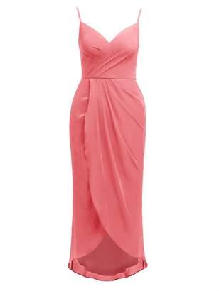 Alicepub Women's Spaghetti Evening Party Dress Hi-Lo Bridesmaid Dresses Chiffon