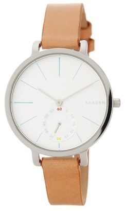 Skagen Women's Hagen Leather Strap Watch $155 thestylecure.com