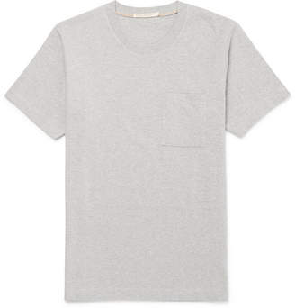 Nudie Jeans Kurt Melange Organic Cotton-Jersey T-Shirt - Gray