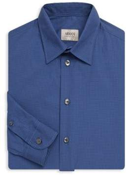 Armani Collezioni Dotted Regular-Fit Shirt
