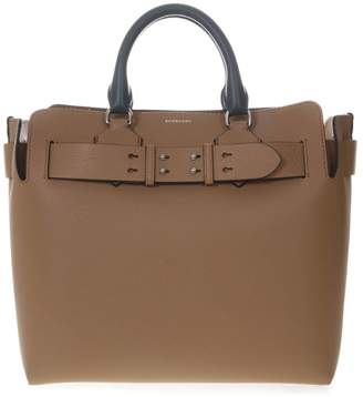 Burberry Camel & White Color Block Leather Tote