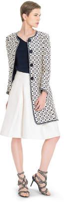 Max Studio memory cloque jacquard circle skirt
