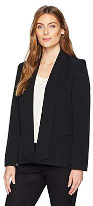 Kasper Women's Stretch Crepe Wide Lapel Jacket