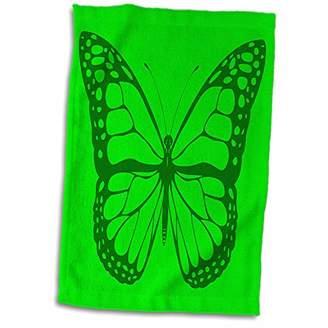 3D Rose Pretty Neon Green Butterfly Towel