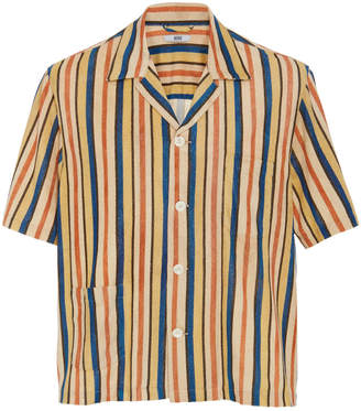 BODE Vancouver Striped Cotton Button-Up Shirt