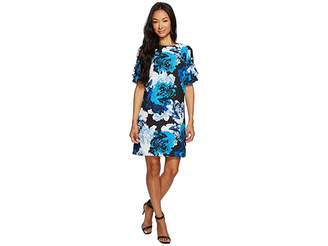 CeCe Tiered Ruffle Sleeve Stately Bouquet Dress Women's Dress