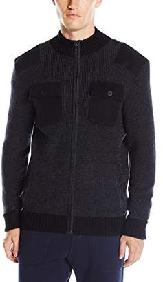 Kenneth Cole New York Men's Marled Zip with Plkt and Felt