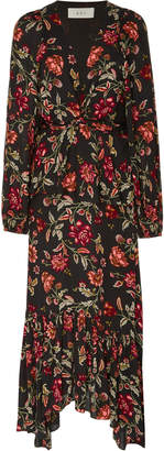 A.L.C. Stanwyck Tiered Floral-Print Crepe De Chine Midi Dress