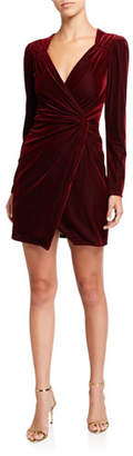 Astr Lanita Velvet Long-Sleeve Cocktail Dress