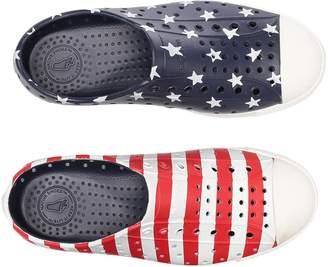 Native Jefferson Stars and Stripes Print Kids Shoes