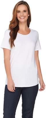 C. Wonder Essentials Slub Knit Curved Hem T-shirt