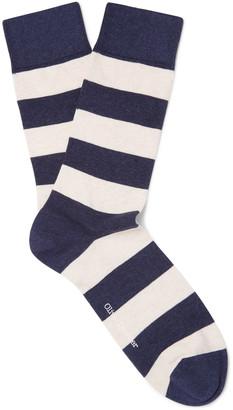 Oliver Spencer Loungewear Lee Striped Stretch Cotton-Blend Socks