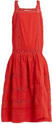 QUEENE AND BELLE Aimee square-neck embroidered cotton-voile dress $525 thestylecure.com