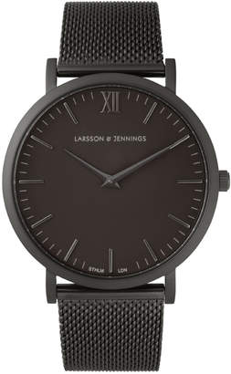 Larsson & Jennings Lugano 40mm Black Chain Metal Watch