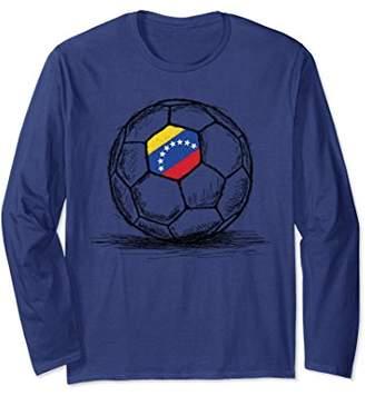 Venezuela Venezuelan Flag Soccer Ball Long Sleeve Shirt