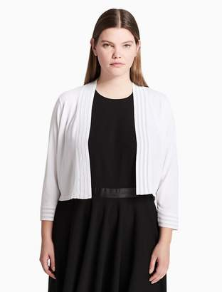 Calvin Klein plus size striped illusion shrug