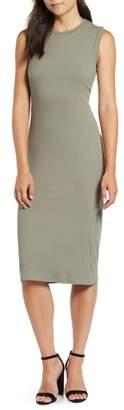 Bobeau Twist Back Midi Dress