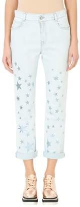 Stella McCartney Silver Star Print Boyfriend Jeans