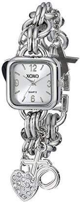 XOXO Women's XO7026 Dial -tone Charm Bracelet Watch