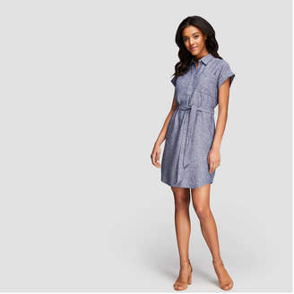 Joe Fresh Women's Short Sleeve Shirt Dress