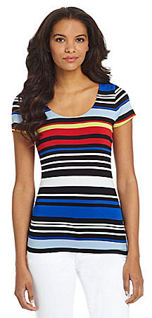 Vince Camuto Stripe Open-Back Tee