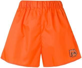 Prada logo track shorts