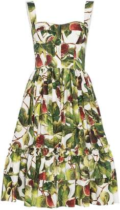 Dolce & Gabbana Fig Print Midi-Dress