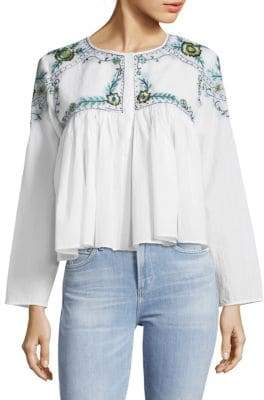Kas Mallory Embroidered Cotton Blouse