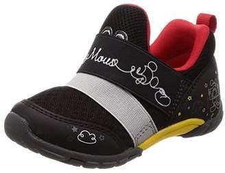 Disney (ディズニー) - [ディズニー] スリッポン 運動靴 通学履き 子供 靴 ディズニー ゆったり 抗菌防臭 DN C1206 ブラック 180(18 cm) 2E