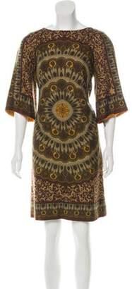 Nicole Miller Silk Shift Dress Olive Silk Shift Dress