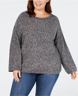 Style&Co. Style & Co Plus Size Relaxed Marled Sweater