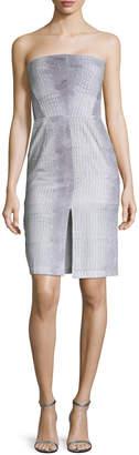 Donna Mizani Women's Strapless Printed Dress