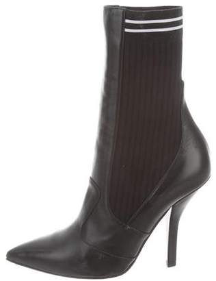 Fendi 2018 Rockoko Leather Ankle Boots