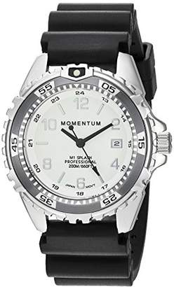 Momentum Women's Quartz Watch | M1 Splash by Momentum| Stainless Steel Watches for Women | Dive Watch with Japanese Movement & Analog Display | Water Resistant ladies watch with Date –Lume / Grey Rubber