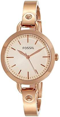 Fossil Women's 'Classic Minute' Quartz Stainless-Steel-Plated Watch