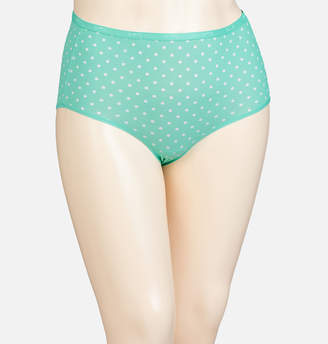 Avenue Green Dot Cotton Full Brief Panty