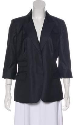 Kaufman Franco KAUFMANFRANCO Wool & Silk-Blend Peak-Lapel Blazer
