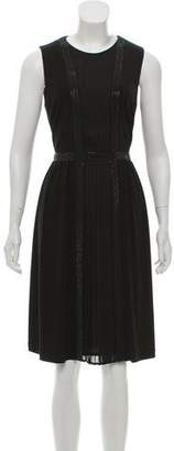 St. John Embellished Knee-Length Dress
