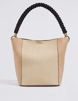 Marks and Spencer Faux Leather Rope Handle Shoulder Bag