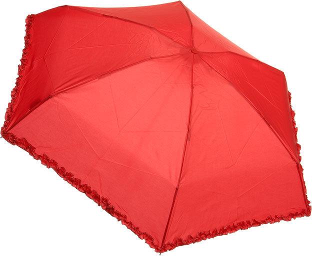 Red Micro Frill Umbrella
