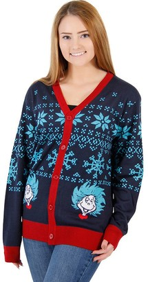 Mighty Fine Dr. Seuss Things 1 & 2 Ugly Sweater Cardigan