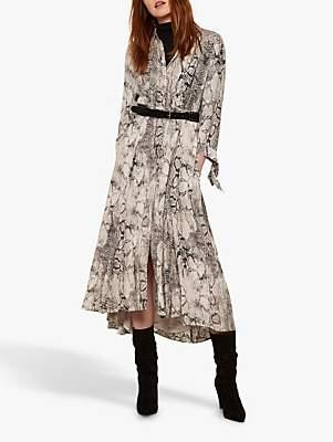 d544103f780c Mint Velvet Sasha Shirt Dress, Snake Print