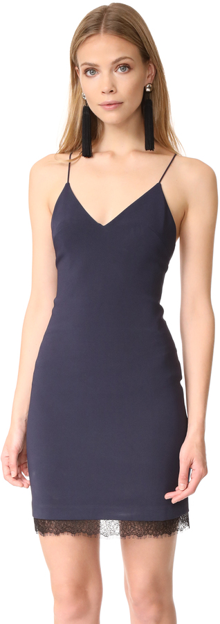 Alice + Olivia alice + olivia Leigh Low Cross Back Fitted Dress