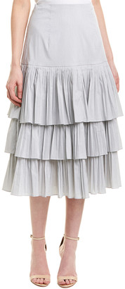 Jonathan Simkhai Johnathan Simkhai Pleated A-Line Skirt